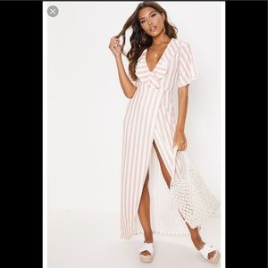 PrettyLittleThing Striped Maxi Dress